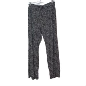 Elementz Black & White Slinky Pants 1X
